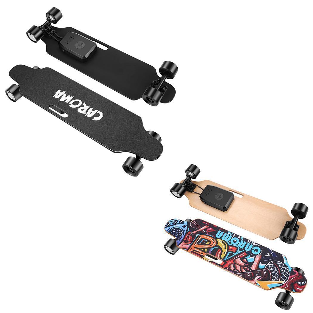 35.4x9.1x4.9inch Electric Skateboard PU Wheel Hub Dual-Motor Skateboard with Remote Control 29.4V 4000mAh Lithium Battery 4