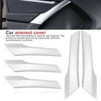 4pcs ABS Chrome Interior Door Armrest Cover Trim Fit for Tiguan 2012 2013 2014 2015 2016 inner door armrest decoration