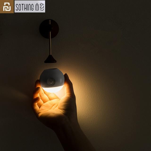 Умный ночник Youpin Sothing Sunny с инфракрасным датчиком, индукционный съемный Ночной светильник с USB зарядкой для дома