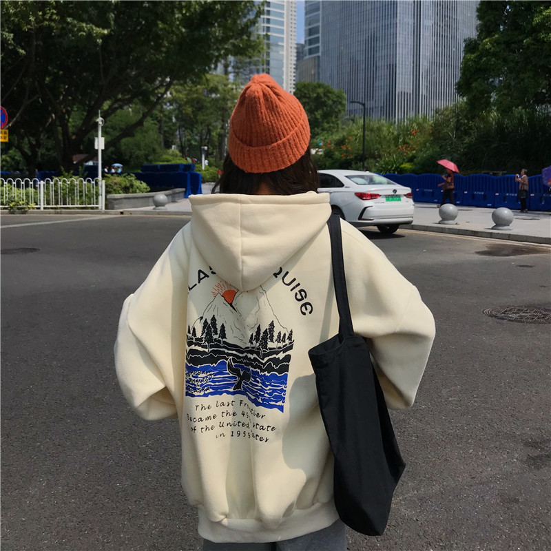 Sweatshirts Female Hoodies Thick Women Pullover Tops Long Sleeve Women's Hoodies Harajuku Woman Hoodie Hooded For Lady Clothes