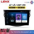Автомобильный мультимедийный плеер LHEX, мультимедийный проигрыватель на android 9,0 для Toyota RAV4 Rav 4 2007 2008 -2010 2011 с радио и GPS, 9 дюймов, типоразмер 2DIN