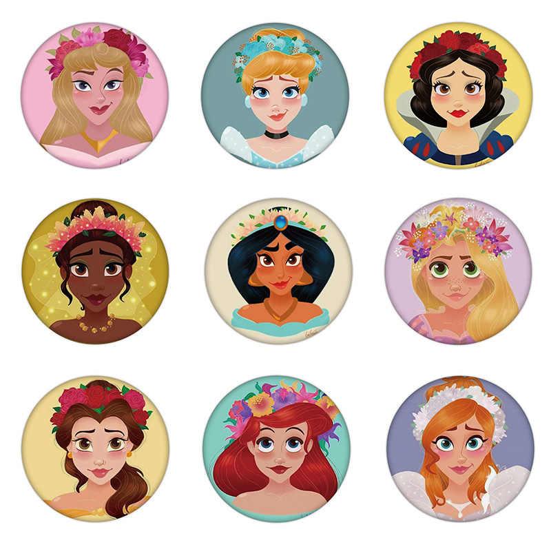 1 Pcs Anna Tiana Bella Putri Ariel Bros Plastik Indah Pin Lencana untuk Dekorasi Di Ransel Pakaian Syal Gadis Pesta hadiah