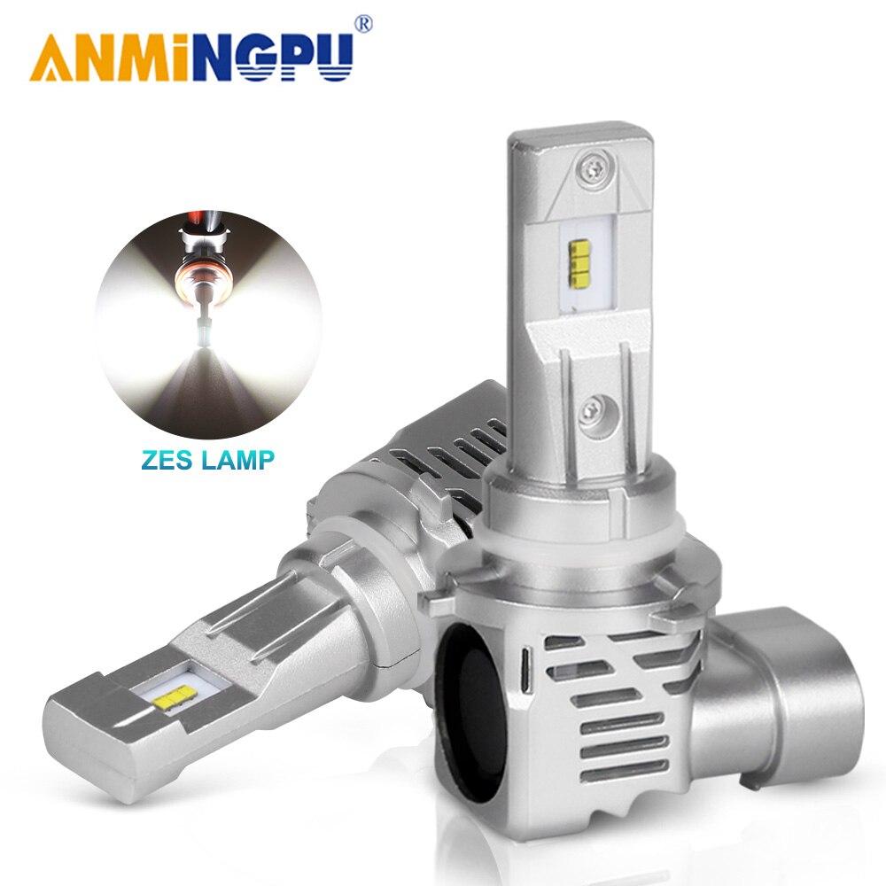 ANMINGPU HB3 9005 Led Headlight Bulbs HB4 9006 H11 H8 H9 H4 9003 HB2 H7 H1 Led Bulbs ZES Chips 12000/LM 50W Car Headlight Bulbs