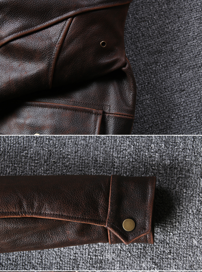 H4019764fe36f4e11ae666de0c7dfe75ce 2019 Vintage Men's G1 Air Force Pilot Jackets Genuine Leather Cowhide Jacket Plus Size 5XL Fur Collar Winter Coat for Male
