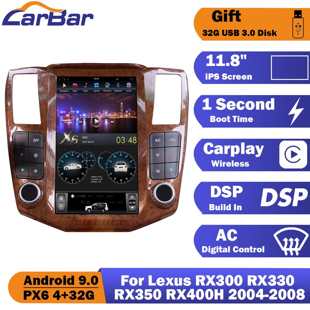 Tesla Style Vertical Screen <font><b>Android</b></font> 9.0 Car DVD GPS Radio Navigation Stereo Audio Player For <font><b>Lexus</b></font> RX300 <font><b>RX330</b></font> RX350 RX400H image
