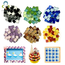 100g(About 100pcs) 1cm Multi Colors Square Glass Tiles For DIY Crafts Supplier Making Tiles Fashion Home Decoration GYH