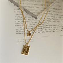 Мульти Слои золото Цвет с металлической цепью цепочка колье