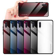 Texture Gradient Phone Case For Samsung A50 A30 A70 Glass Co