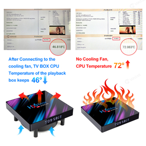 VONTAR C1 Cooling Fan for Android TV Box Smart Set Top Box Wireless Silent Quiet Cooler DC 5V USB Power 80mm Radiator Mini Fan