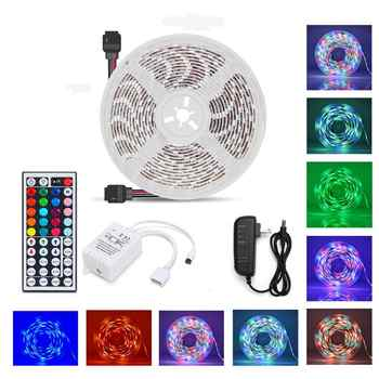 LED Strip Lights Flexible Waterproof Tape Light Kit With 44 Buttons Remote Controller For Christmas Decoration - DISCOUNT ITEM  35% OFF All Category