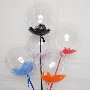 Гелиевые светящиеся воздушные шары Bobo, прозрачный воздушный шар из ПВХ для детского душа, вечерние украшения на день рождения, свадьбу, перы...