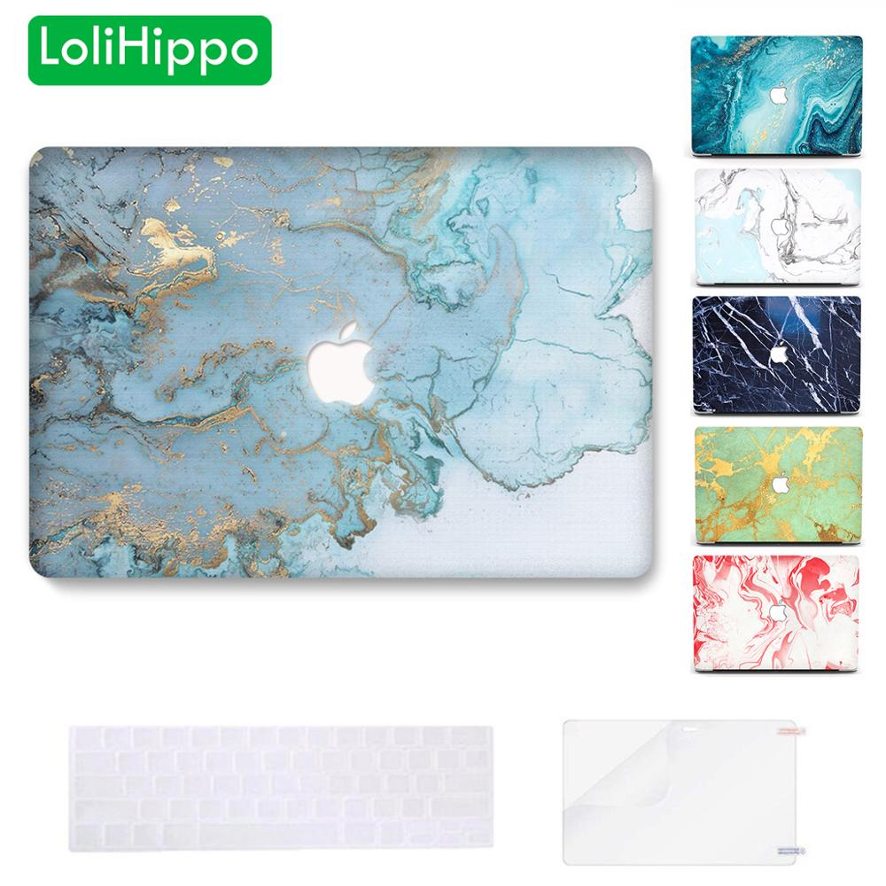 LoliHippo Marble Flow Laptop Protective Case for New Apple Macbook Air Pro 11 12 13 15 Inch Notebook Cover Mac Book Replace Case