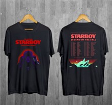 Camiseta de excursão 2017 datas da excursão de starboy legend of the fall S-2XL