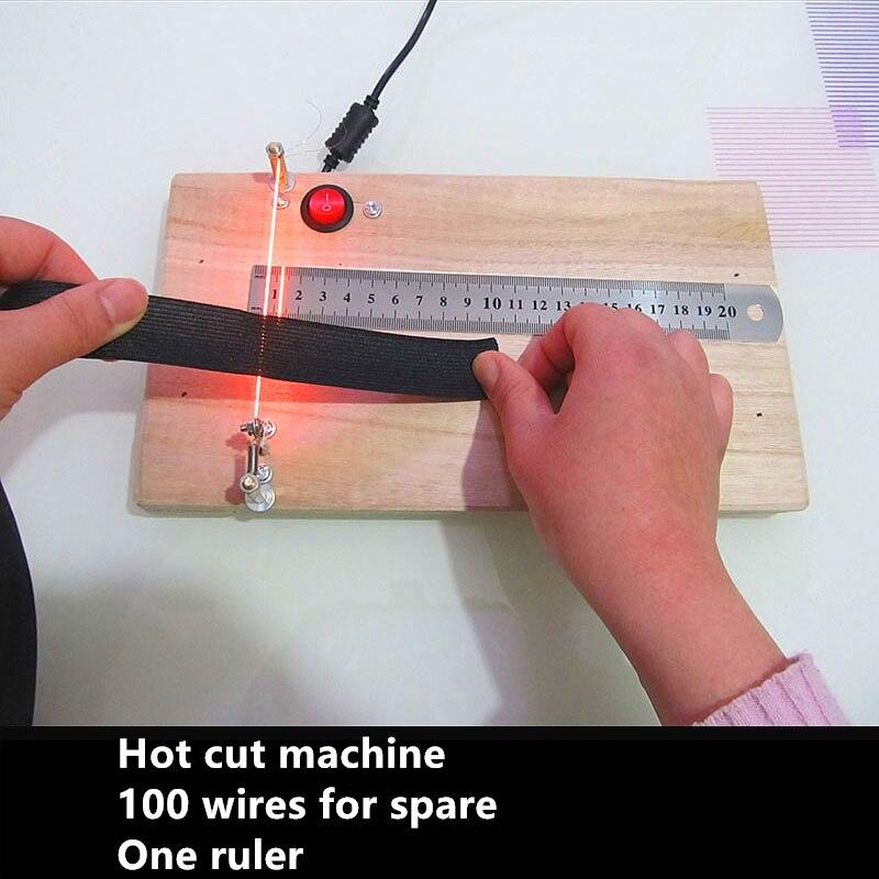 LBSISI Life Home Use Hot Ribbon Cut Machine DIY Rope Ribbons Craft DIY Hand Cut Tool 220V
