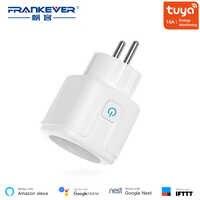 FrankEver EU Smart Stecker mit Power Überwachung Surge Protector 16A Wifi Buchse Stimme Steuer Arbeit mit Alexa Google Hause
