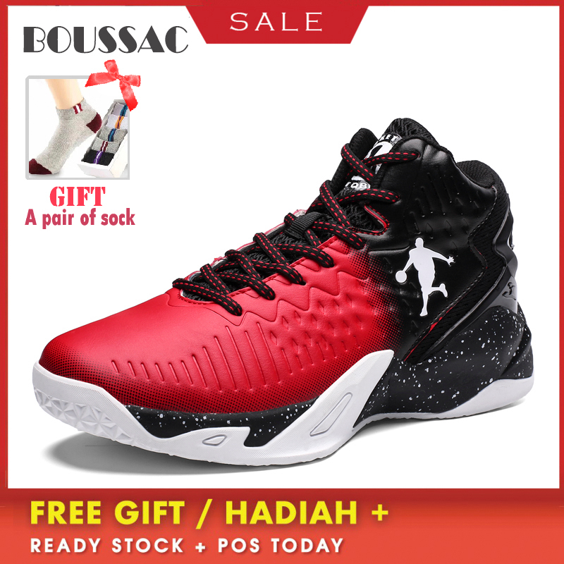 Boussac High-end Basketball Shoes Jordan Light Men's Basketball Shoes Tights Waterproof Basketball Shoes For Outdoor Sports image