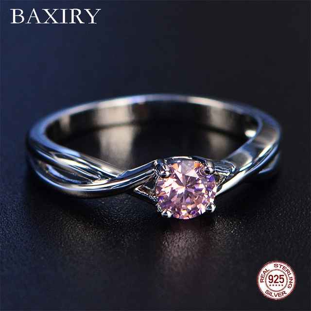 Trendy Gemstones Amethyst Silver Ring Blue Sapphire Ring Silver 925 Jewelry Aquamarine Ring For Women Engagement Rings Fine Jewellery Jewellery & Watches Women's Fashion