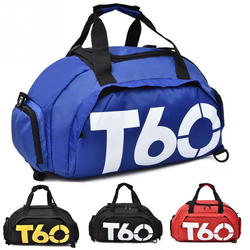 Bolsa deportiva de gimnasio para hombres y mujeres, bolsa de entrenamiento para exterior, bolso portátil de viaje para Fitness, mochila impermeable de nailon para el hombro
