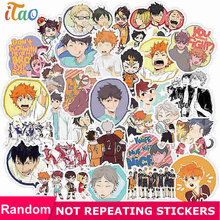Random Pack Cute Anime Haikyuu Stickers Waterproof PVC Laptop Guitar Skateboard Luggage Vsco Cool Graffiti Sticker Kids Toys