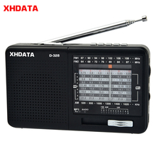 XHDATA D 328 FM Radio AM SW Tragbare Kurzwellen Radio Band MP3 Player Mit TF Karte Jack 4Ω/3W radio Empfänger