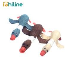 Lovely Cat dog toys puppy pet chew toy animals squirrel plush Cartoon bite Linen cloth Wild goose squeak