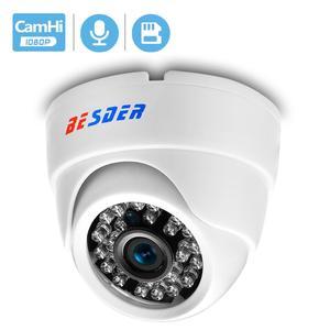 Image 1 - BESDER geniş açı 2.8mm IP kamera kablosuz ses 1080P kapalı Dome güvenlik Wi Fi IP kamera SD kart ile yuvası ONVIF RTSP FTP