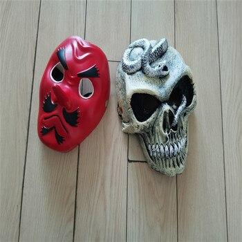 2 Style 2pcs/set Demon Slayer: Kimetsu no Yaiba Urokodaki Sakonji Mask Cosplay Scary Skeleton Snake Mask Halloween Party Mask scary halloween adult cave demon mask the faun skull skeleton mask