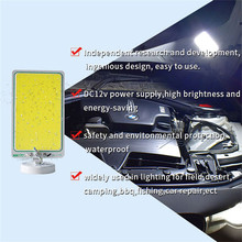 portable 20W LED Panel Light COB double color aluminium alloy magnetic base emergency lights for cars Repair Working lamp