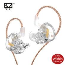 Kz edx cristal cor 1dd dinâmico fones de ouvido alta fidelidade graves no monitor do esporte com cancelamento ruído fone para zst x