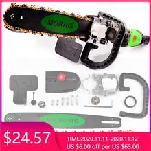 Soporte de motosierra eléctrica M10 + M14, mejora 5th, 16 pulgadas, cambio de amoladora angular a sierra de cadena, juego de herramientas eléctricas para carpintería