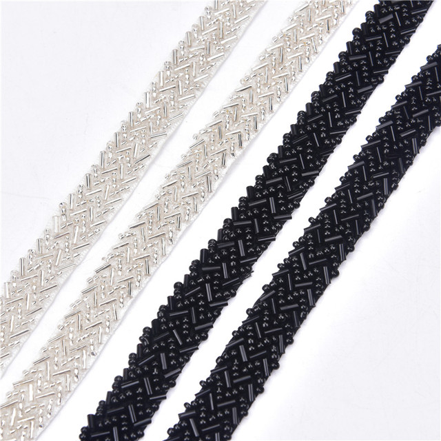5 หลา/lot Rhinestones ลูกไม้ผ้าริบบิ้นตัด 1.5 ซม.ถัก Applique Scrapbooking Craft อุปกรณ์เย็บผ้าสำหรับงานแต่งงานชุด