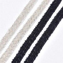 5 yards/lot Strass Spitze Stoff Ribbon Trim 1,5 cm Geflochtene Applique Scrapbooking Handwerk Nähen Lieferungen für Hochzeit Kleid