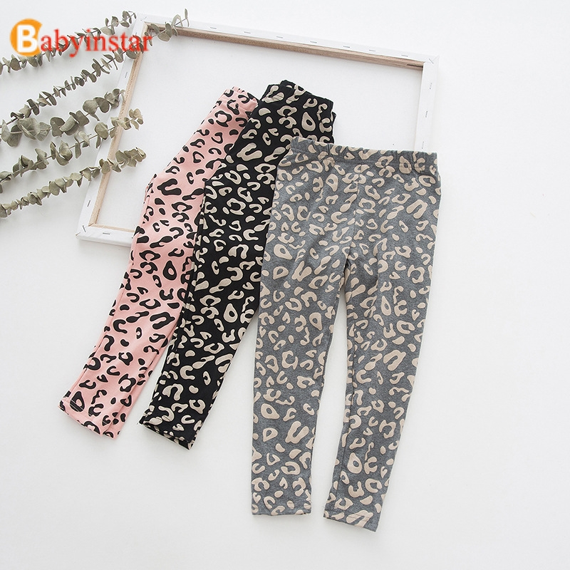 Soft Cotton Leggings For Girls Children Leggings Fall Children Leopard Pants Girls Clothing Kids Baby Girl Infant Bottoms