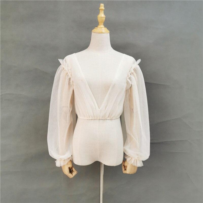 Bride Bolero Top Puffy Long Sleeves  Princess Wedding Shawl Hot Bridal Wraps Shrug for Wedding Dress