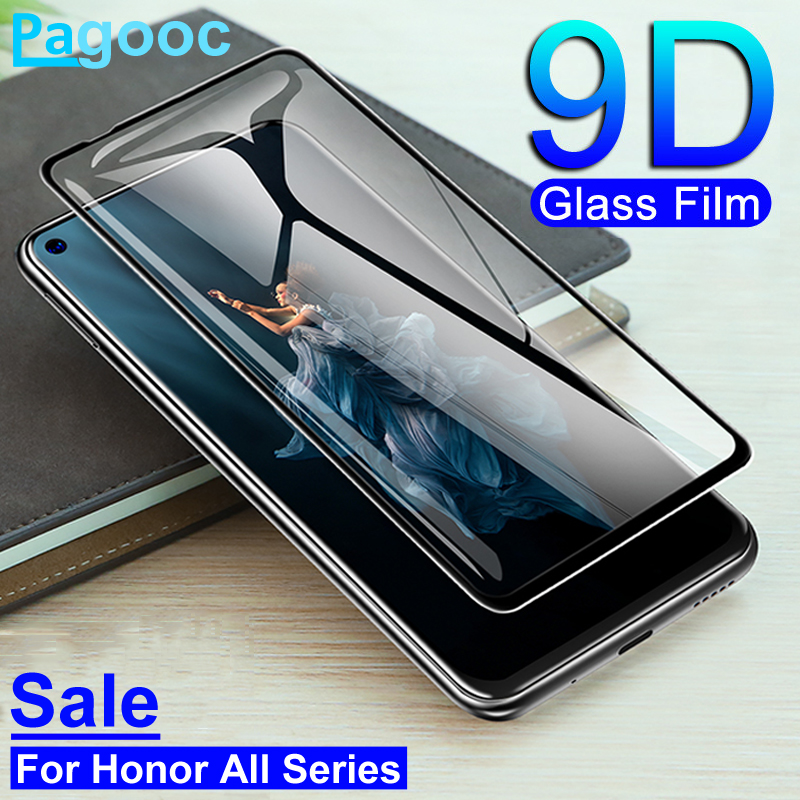 9D Full Cover Tempered Glass For Huawei Honor 10 20 Lite V10 V20 10i 20i 20S 9X 8X 8A 8S Screen Protector Safety Glass Film Case