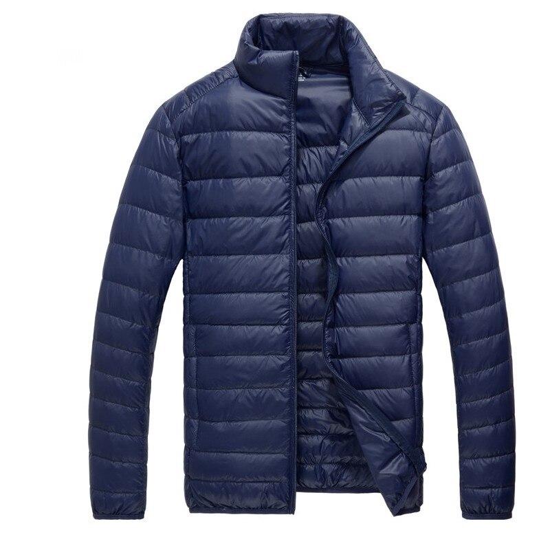 GustOmerD 2019 Winter   Down     Coat   Men Solid Slim Stand Collor   Down   Jacket Men Casual Warm Cashmere Men's   Down     Coats   Large Size