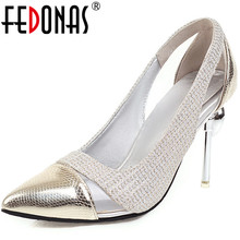 FEDONAS Classic Design Women Colors Matching Pointed Toe Shoes 2020 Spring New N