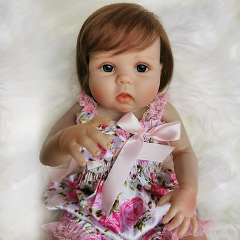 20 Inch Bebe Reborn baby Girl real Full Silicone Vinyl reborn dolls alive newborn Baby Toy Doll For Children's Day Gifts