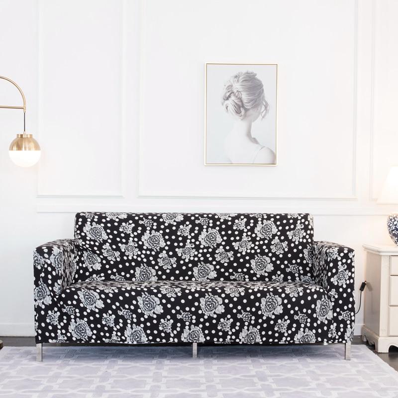 Hot Price #ab65 - Black White Pattern Sofa Cover Spandex ...