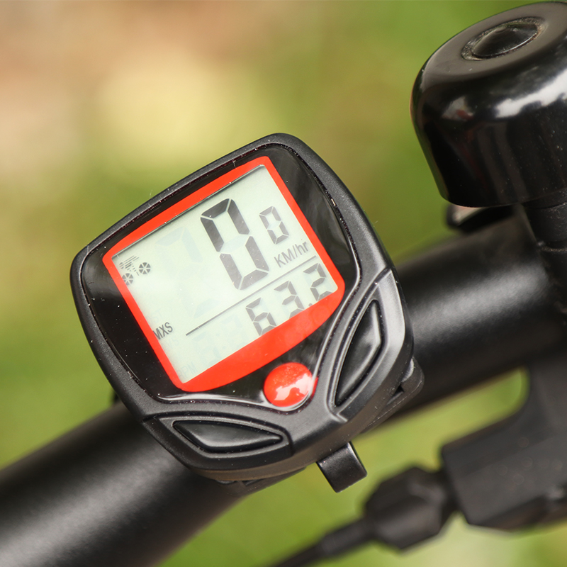 Bike Computer LCD Digital Display Waterproof Stopwatch Bicycle Odometer Riding Access Bicycle Speedometer