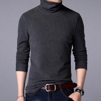 New Style Winter warm men soft Cotton long sleeve T-shirt Purple green An