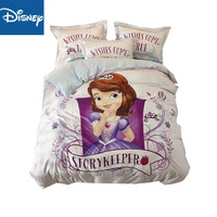 sofia princess bedding set queen size bedclothes single coverlet king duvet cover for girl bedroom cotton 3d printing hot sale