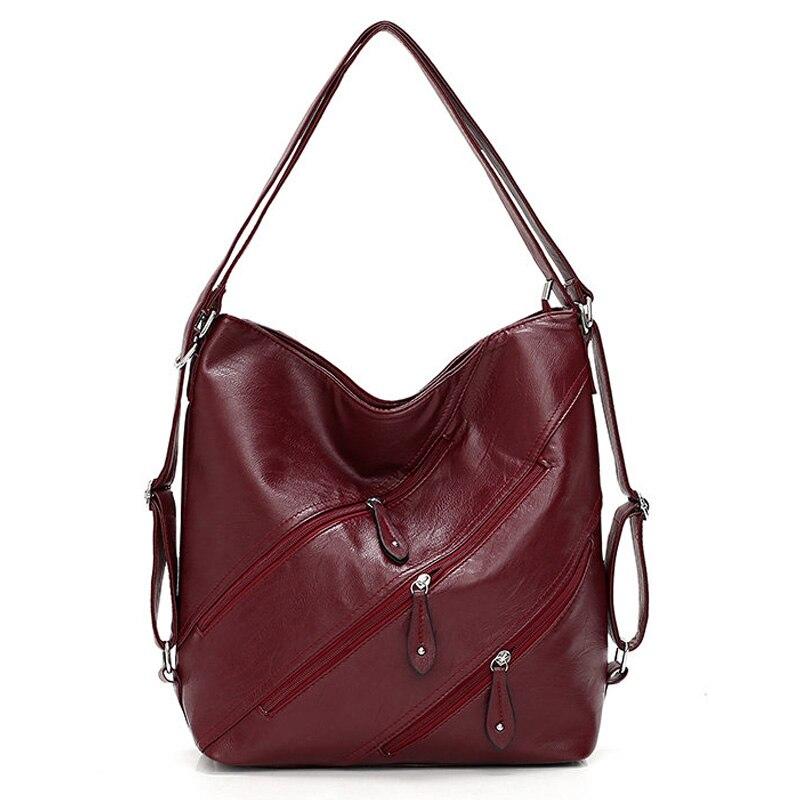 Large Capacity Women Handbag 3 Zipper Real Pocket Luxury Handbags Women Bags Designer Femal Crossbody Messenger Bag Casual Tote