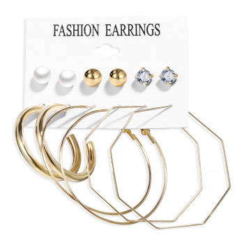 Women Bohemian Earrings Set Big Earrings Jewelry Women Jewelry Metal Color: Earrings Set 14