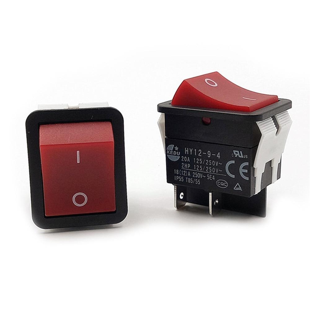 Replace 1pcs KEDU Power On Off Rocker Switch Push Button 4 Pin IP55 T85 HY12-9-4 Accessories