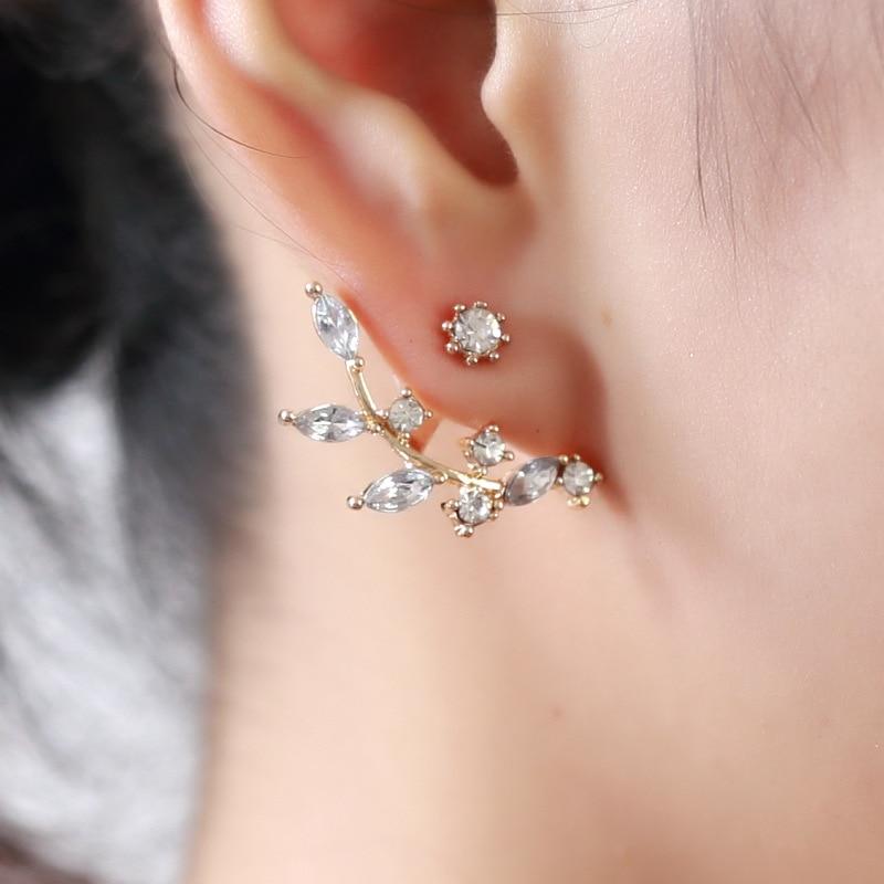 2019geometric earrings ladies metal earrings high end wedding party fashion jewelry zircon pearl heart crystal flower angel wih in Stud Earrings from Jewelry Accessories