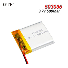503035 3.7v 500mah Lithium Polymer Li-Po Rechargeable Battery For toys GPS MP3 MP4 PAD DVD DIY bluetooth headphone speaker phone 1 2 4pcs 503035 3 7v 500mah lithium polymer battery 3 7v volt li po ion lipo rechargeable batteries for dvd gps navigation