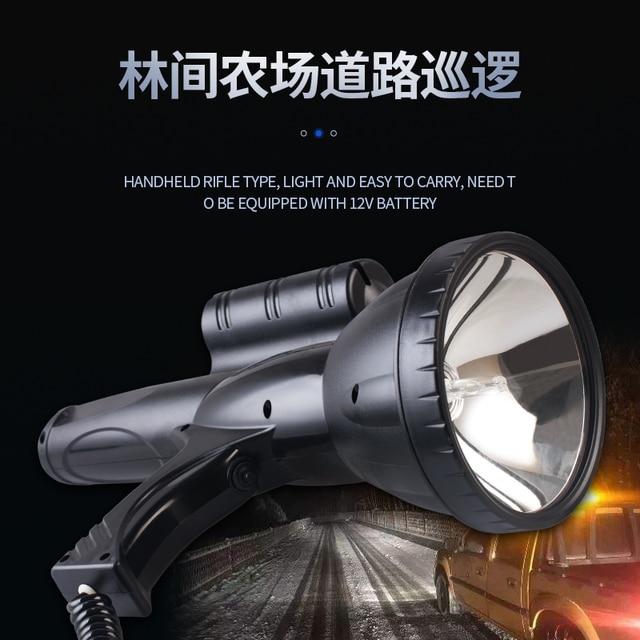 High Power Xenon Lamp Outdoor Handheld Jacht Vissen Patrouille Voertuig 220W H3 Hid Zoeklichten 160W Hernia Spotlight 12 V