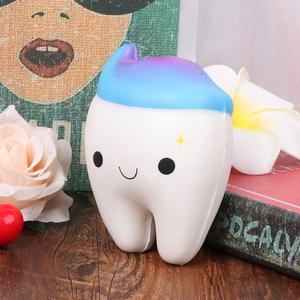 Squishy Rainbow Tooth Slow Rising Stress Squeeze Toys Gift Decoration