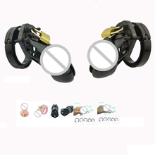 2 Size Lockable Penis Male Chastity Belt Strap On Adult Lock